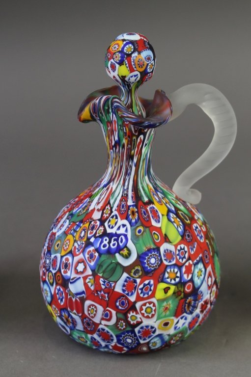 Group of Art Glass Cruets & Ewer - 2