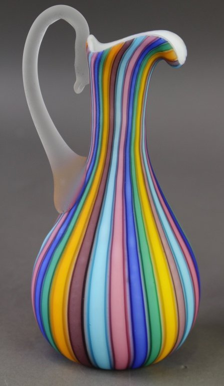 Group of Art Glass Cruets & Ewer - 3