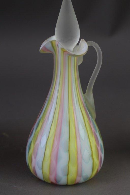 Group of Art Glass Cruets & Ewer - 5