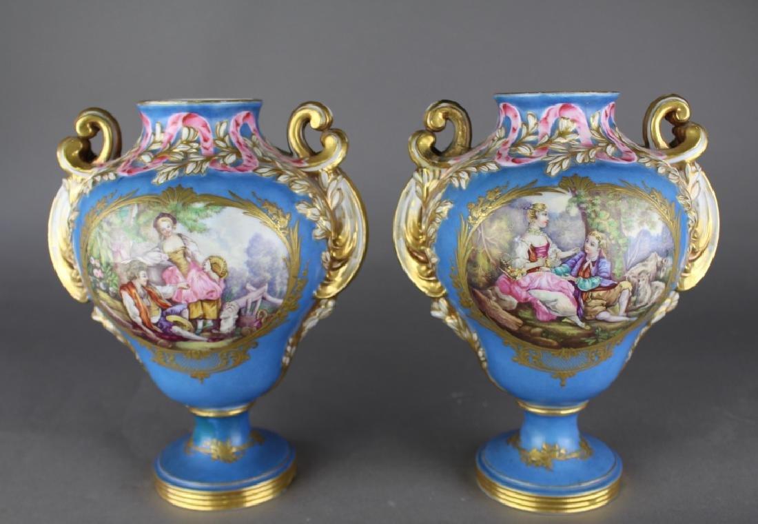 Pair Jacob Petit French Porcelain Vases