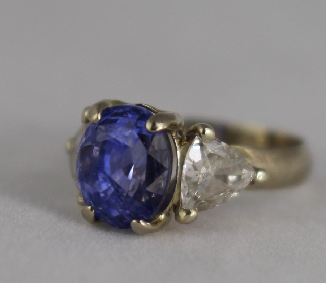 Lady's 5 Carat Sapphire and Diamond Ring
