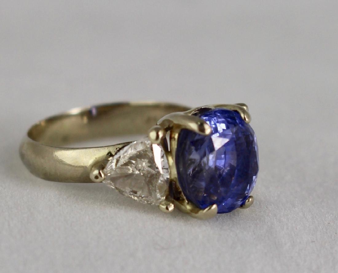 Lady's 5 Carat Sapphire and Diamond Ring - 2
