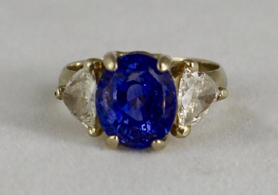 Lady's 5 Carat Sapphire and Diamond Ring - 3