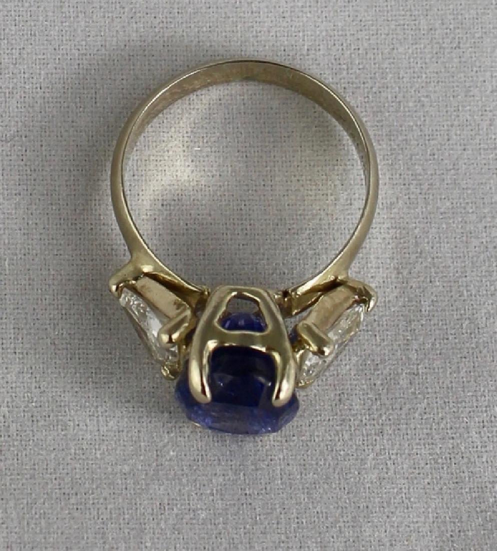 Lady's 5 Carat Sapphire and Diamond Ring - 4