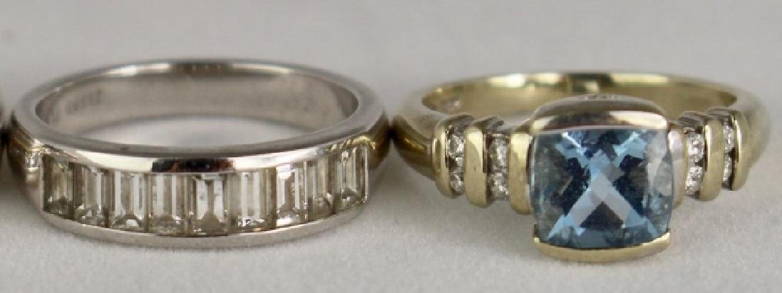 Two Lady's Platinum and Gold Rings