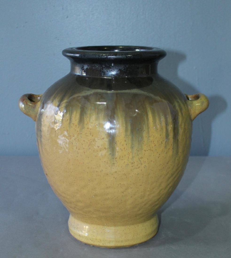 """Fulper Pottery Butterscotch Flambe Glaze Vase 13"""""""