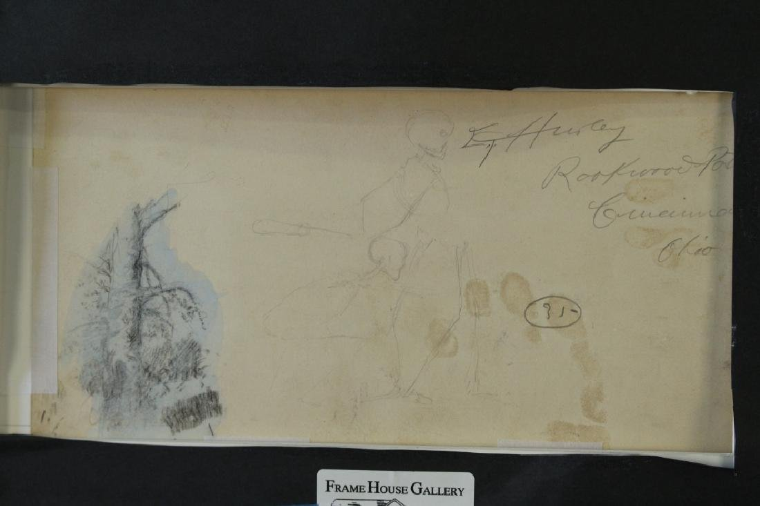 Four Edward T. Hurley Pen & Ink Drawings - 4
