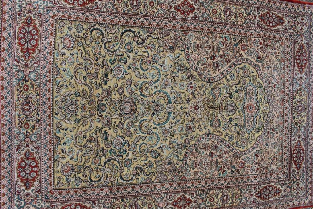Three Persian 100% Silk Rugs - 2