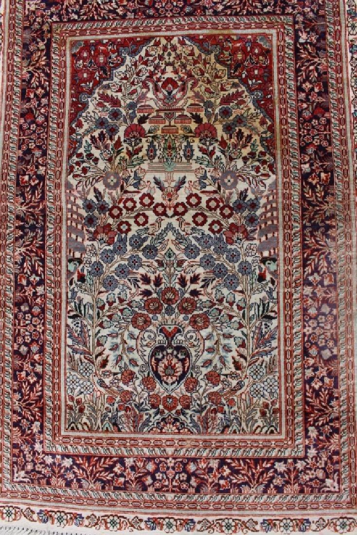 Three Persian 100% Silk Rugs - 4