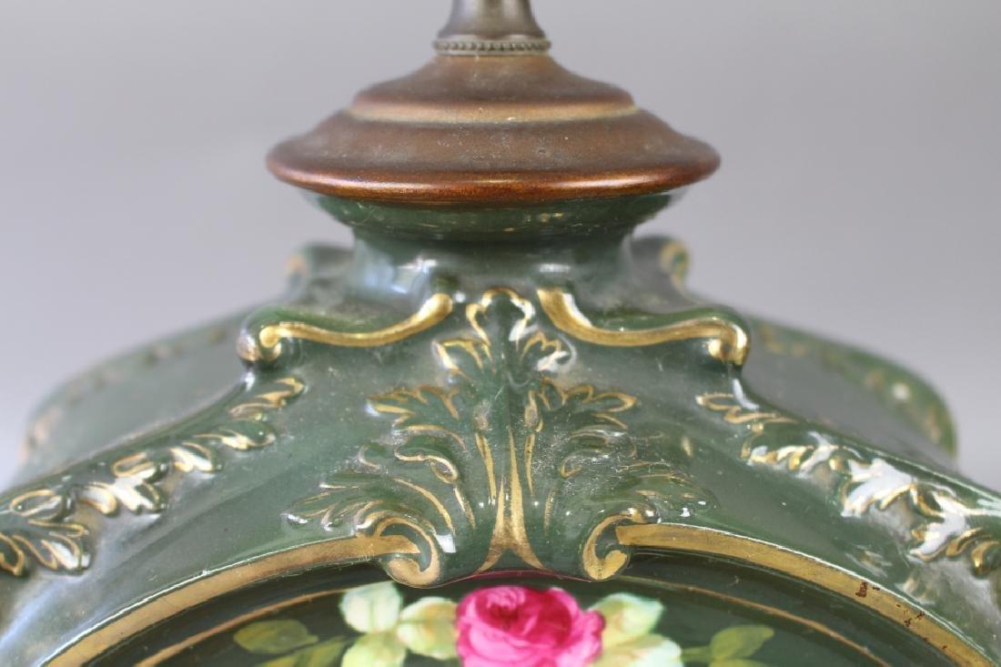 Royal Bonn Porcelain Clock with Ansonia Works - 3