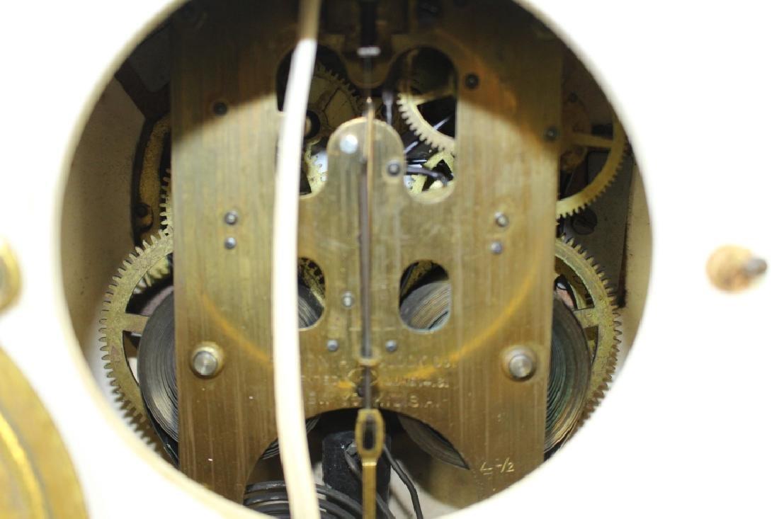 Royal Bonn Porcelain Clock with Ansonia Works - 5