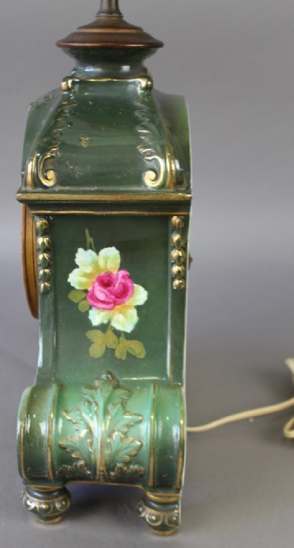 Royal Bonn Porcelain Clock with Ansonia Works - 6