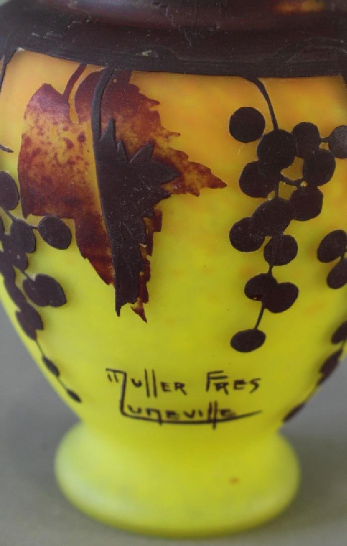 Muller Freres, Luneville, French Art Glass Vase - 2