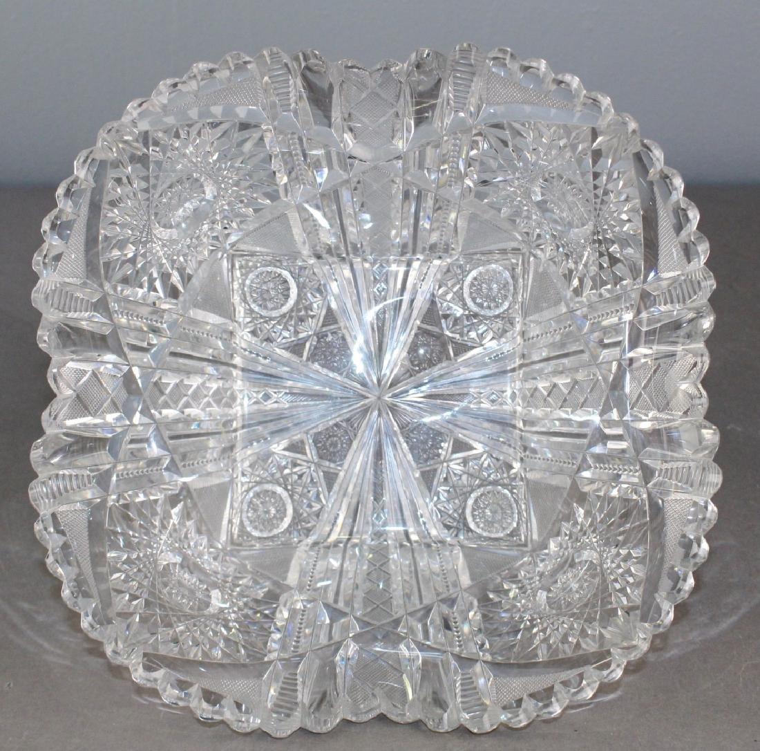 Fine and Large Brilliant Period Cut Glass Bowl