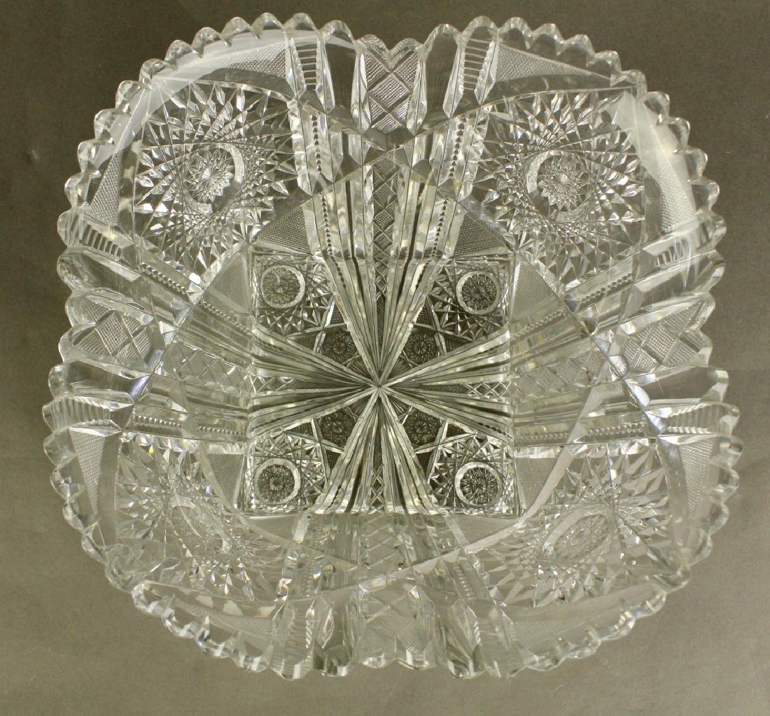 Fine and Large Brilliant Period Cut Glass Bowl - 2