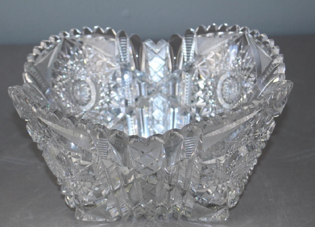 Fine and Large Brilliant Period Cut Glass Bowl - 3