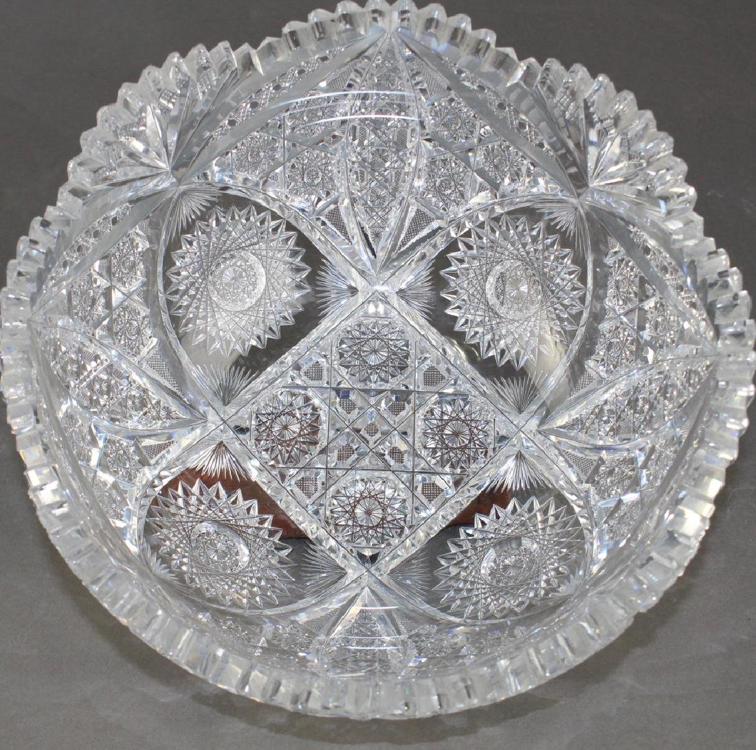 M. J. Averbeck Brilliant Period Cut Glass Bowl