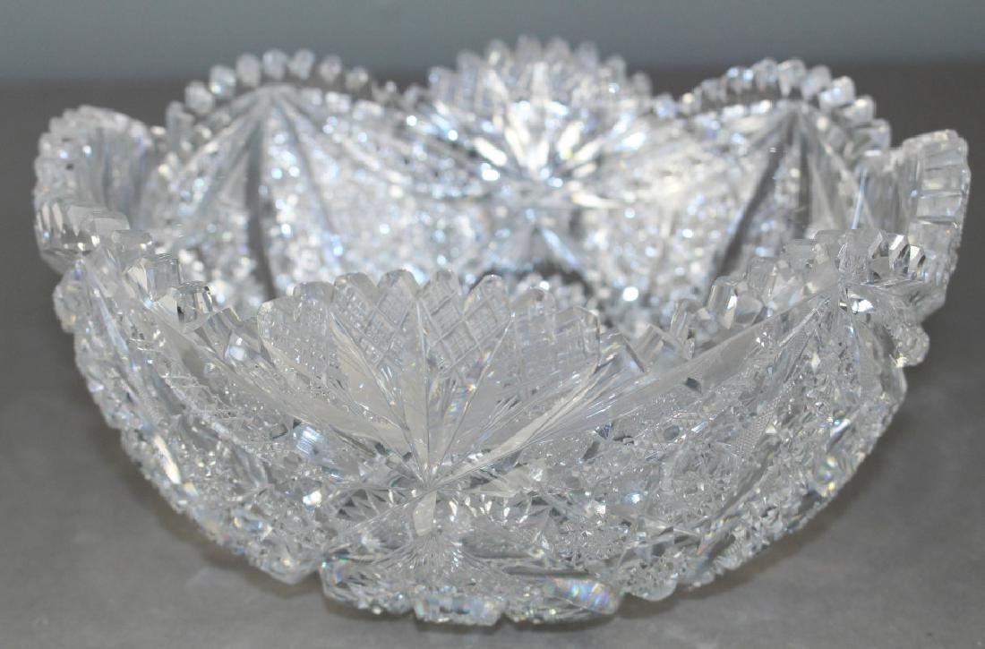 M. J. Averbeck Brilliant Period Cut Glass Bowl - 3