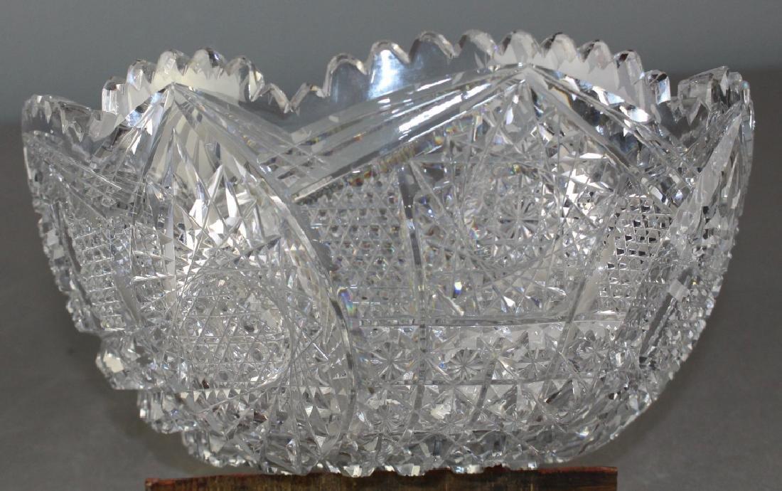Brilliant Period Cut Glass Bowl - 2