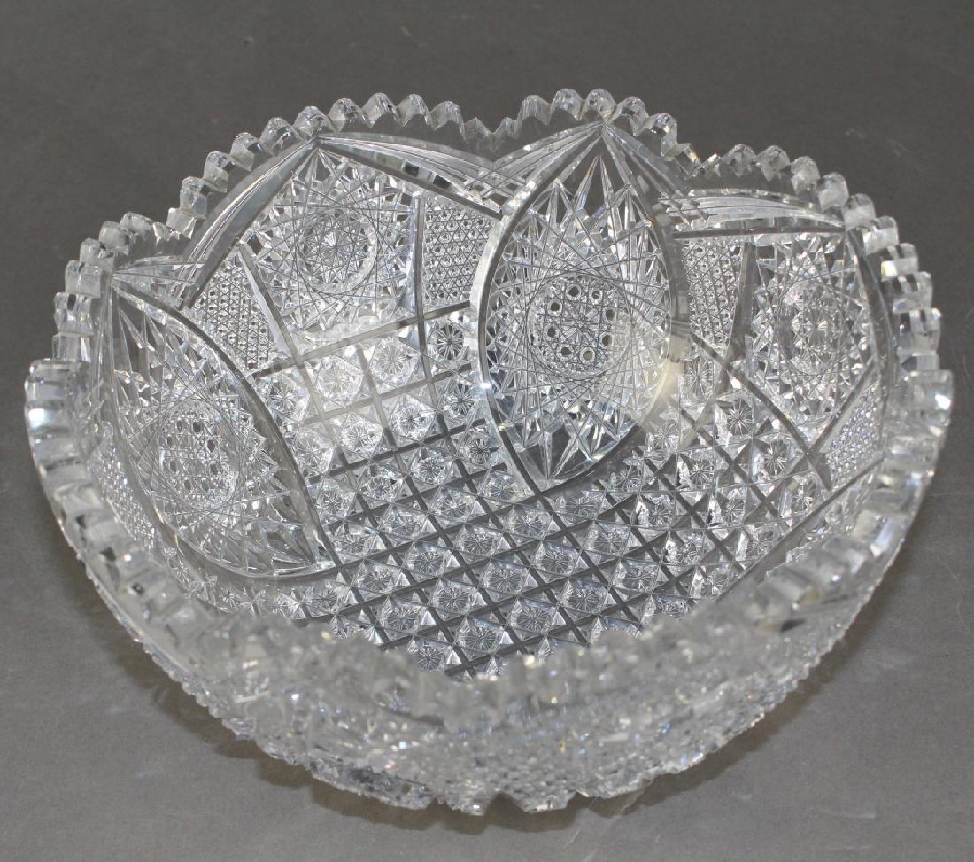 Brilliant Period Cut Glass Bowl - 3