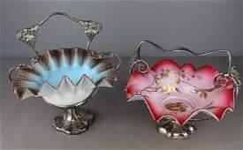 Two Victorian Era Brides Basket