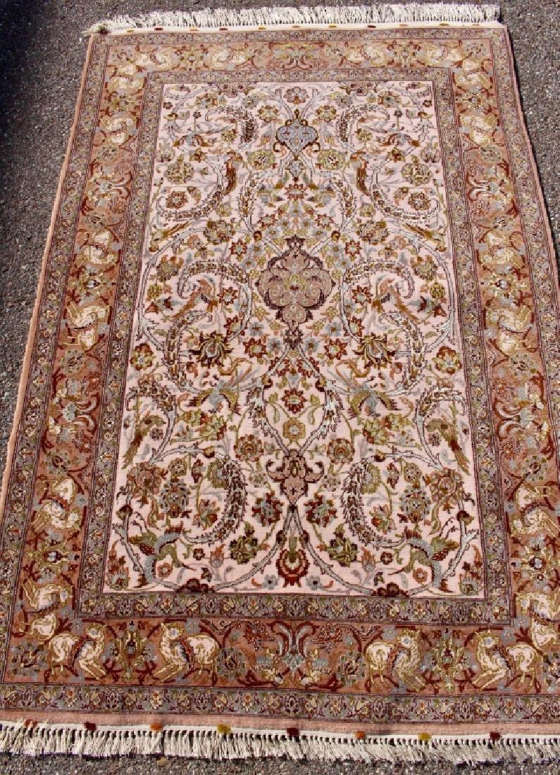 Persian Isfahan Rug 3.5' x 5.5'