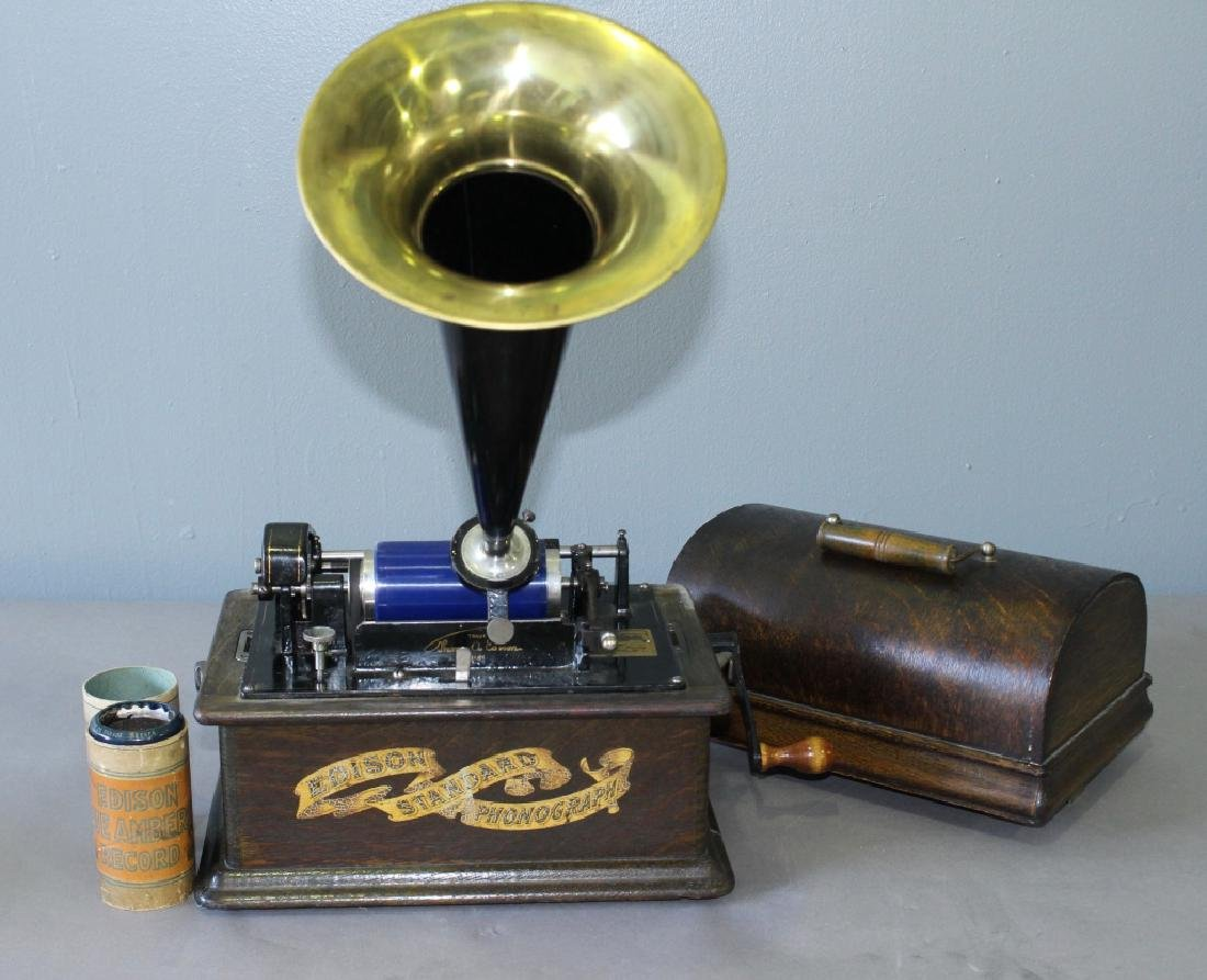 Edison Cylinder Player with Horn