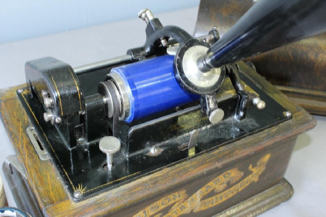 Edison Cylinder Player with Horn - 2