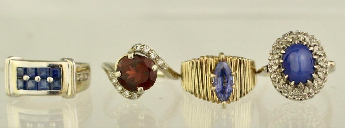 Group of Four Lady's 14K Rings