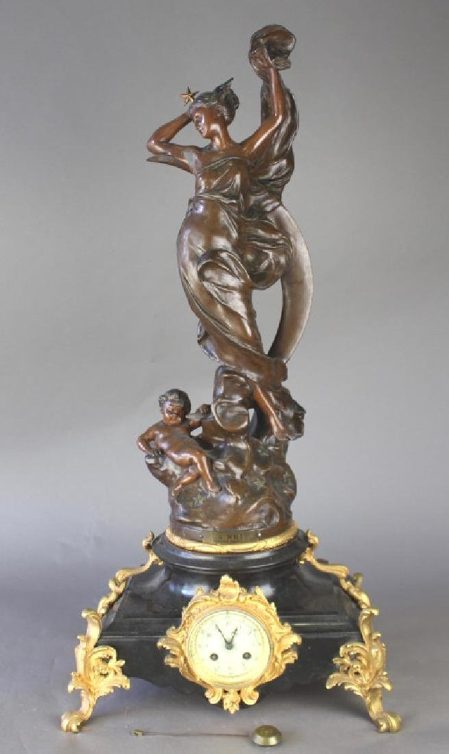 P. Japy et Co. French Figural Clock