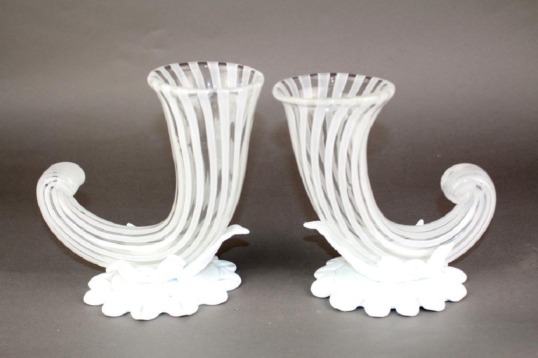 "Pair of ""Venini Italy"" Murano Vases"