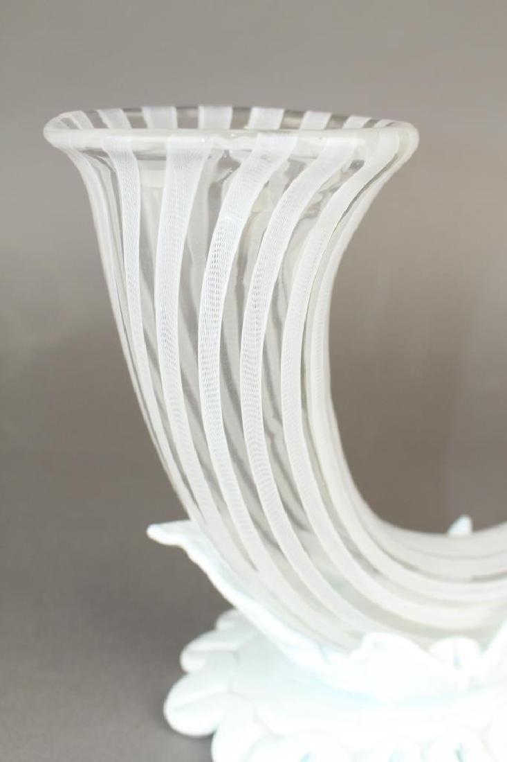 "Pair of ""Venini Italy"" Murano Vases - 2"