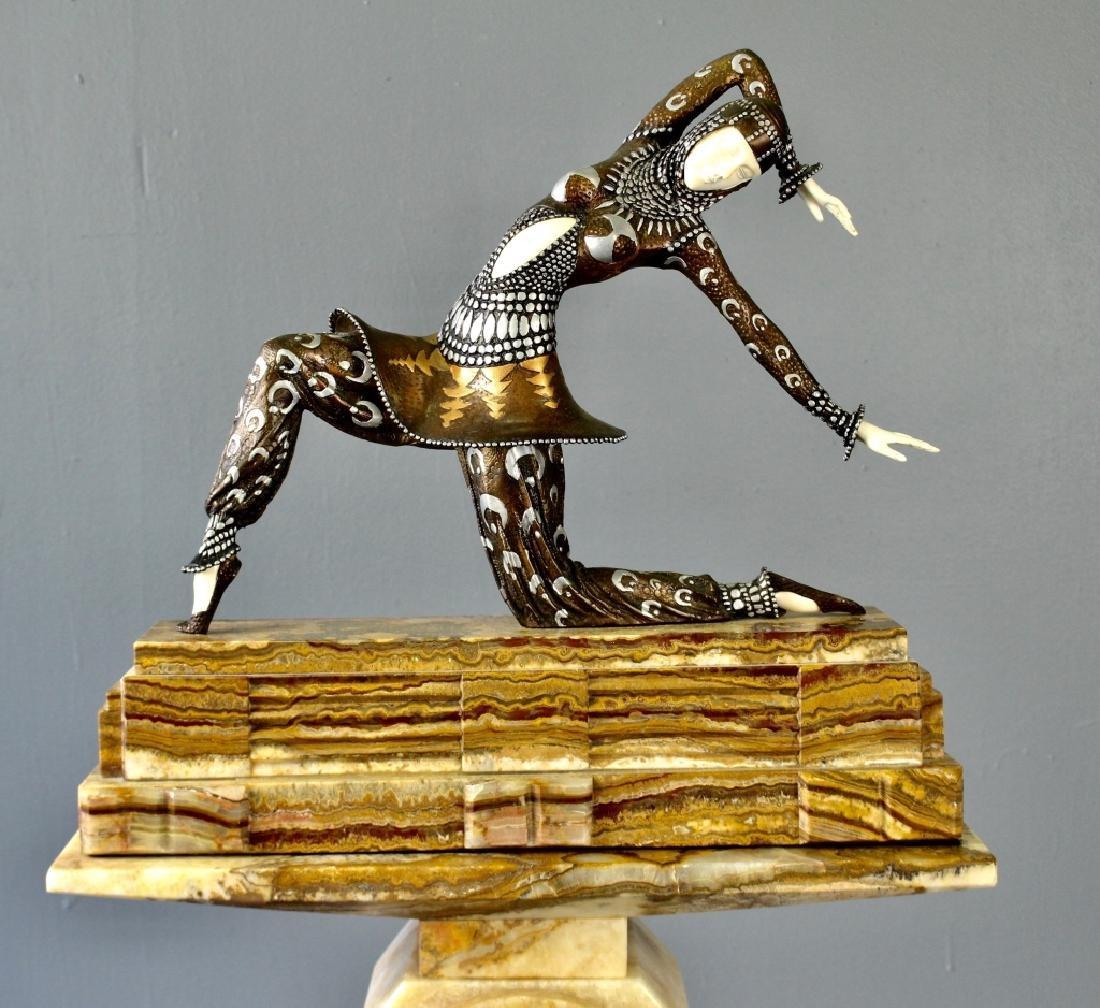 After D. H. Chiparus Art Deco Lady on Pedestal - 3