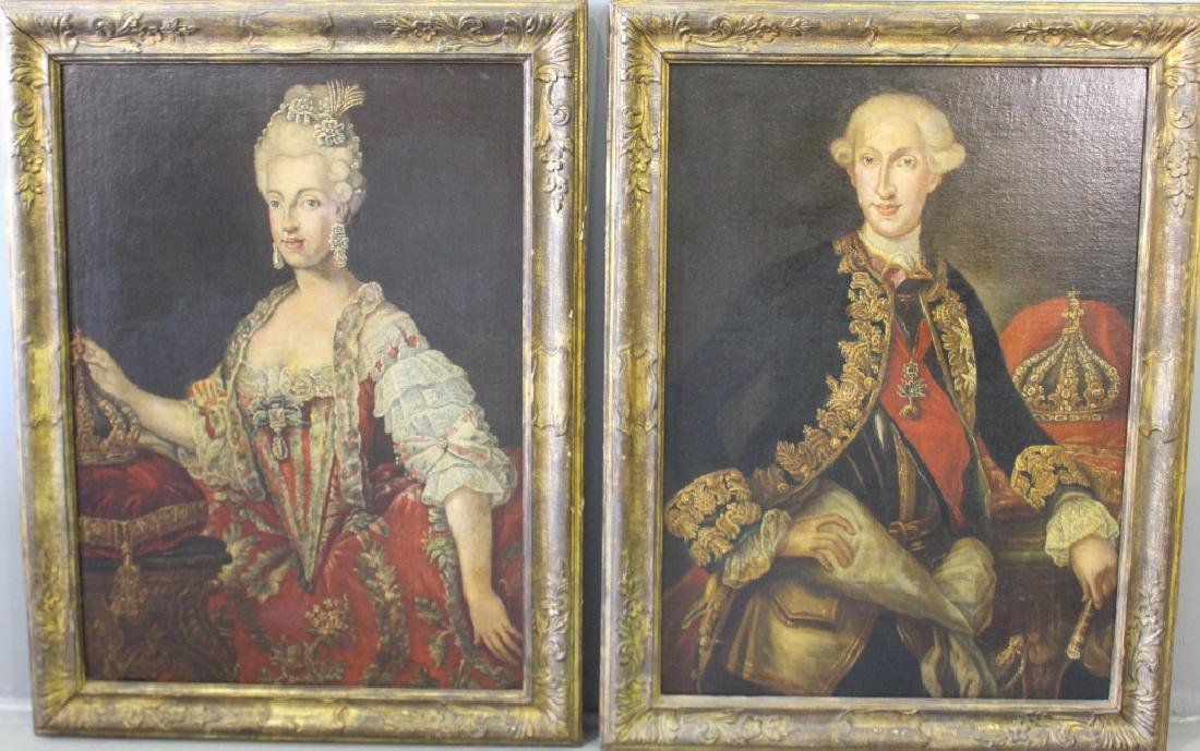 Two European O/C Portraits of Man & Woman