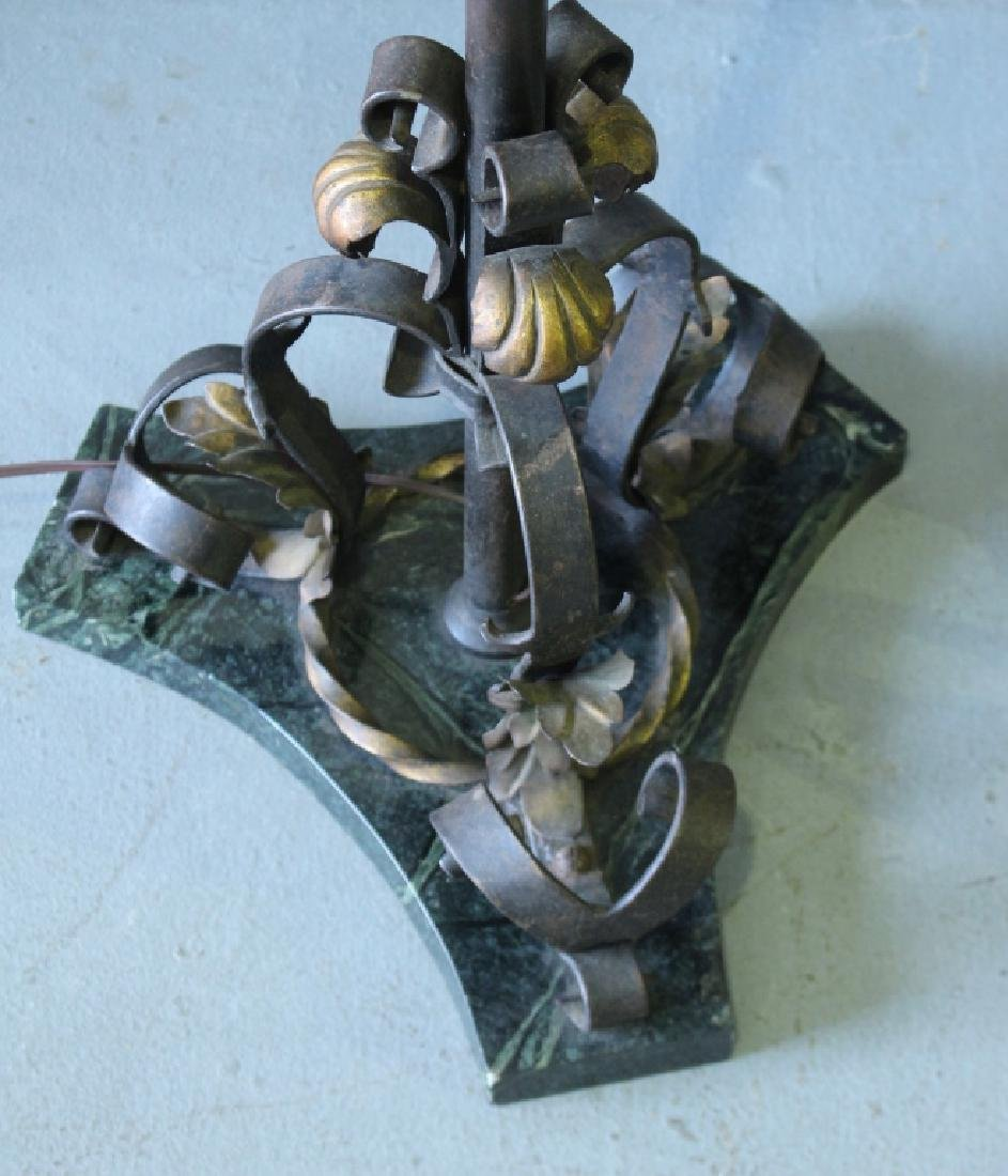 Pair of Wrought Iron Torchere Lamps - 4