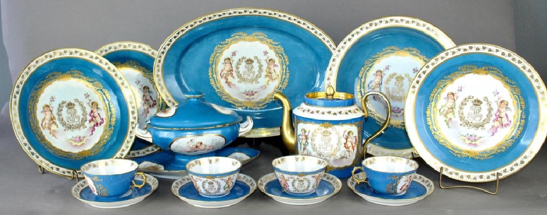 French Porcelain Dinnerware Chateau des Tuileries