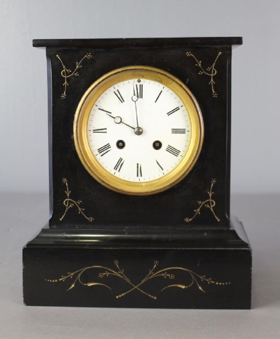 Japy Freres et Cie, French Black Marble Clock
