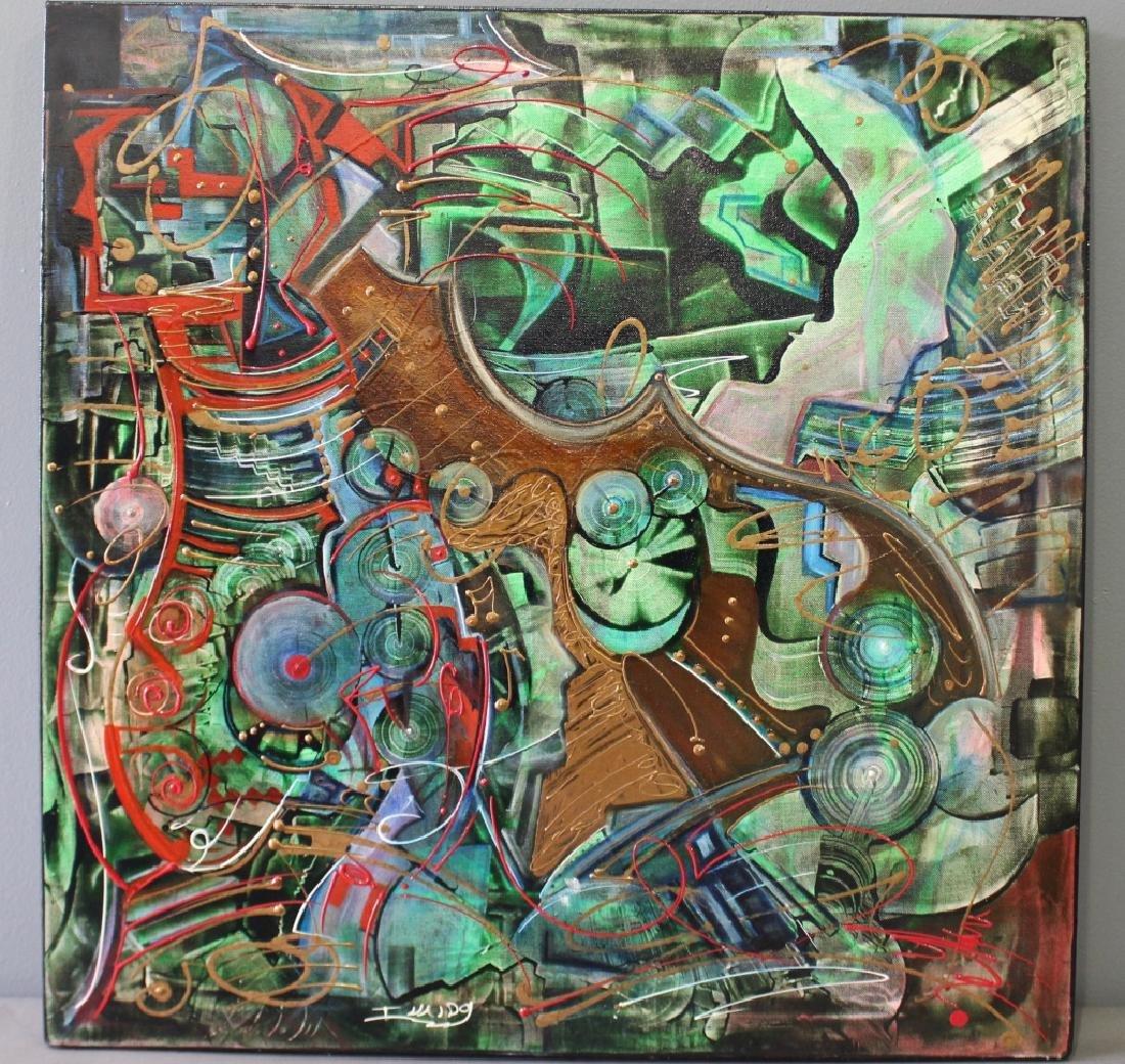 Invaldo Robles, Acrylic on Canvas