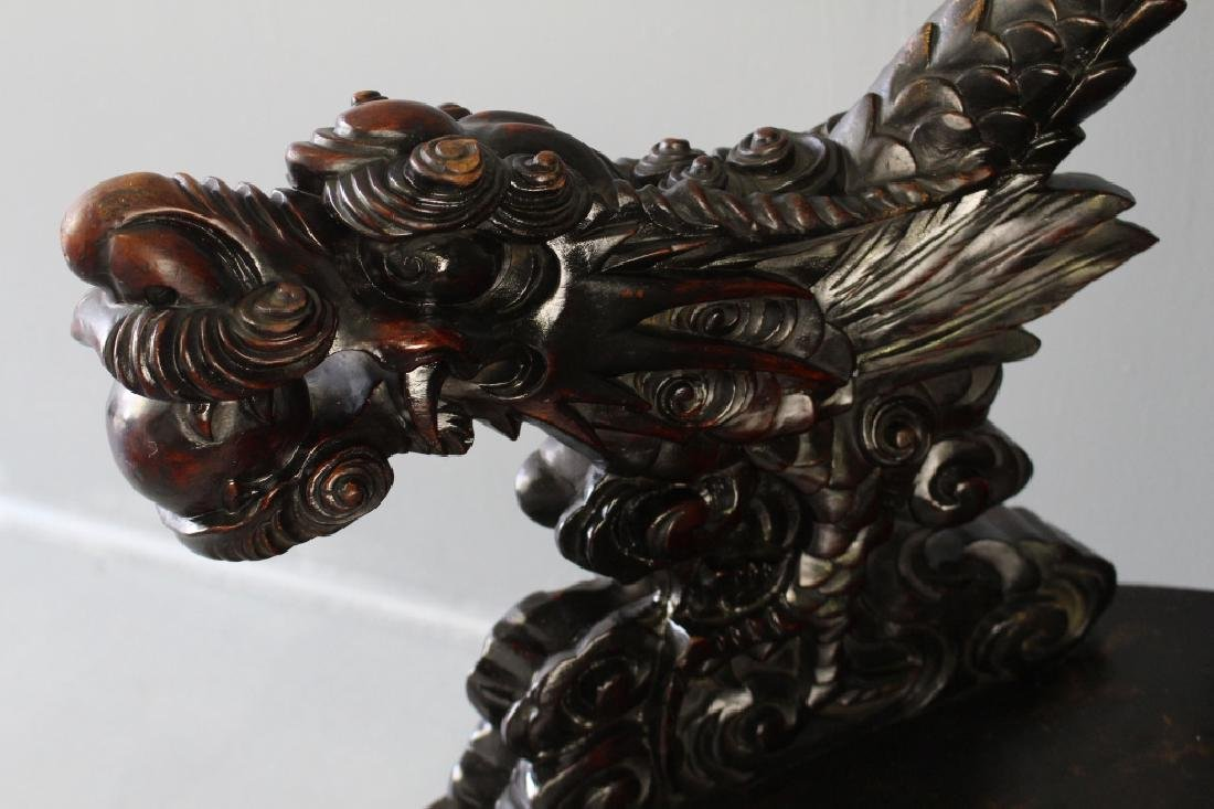 Chinese Carved Dragon Arm Chair - 3