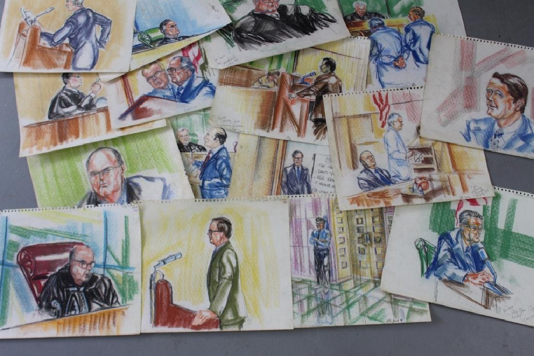 Pat Davies, Watergate Courtroom Drawings