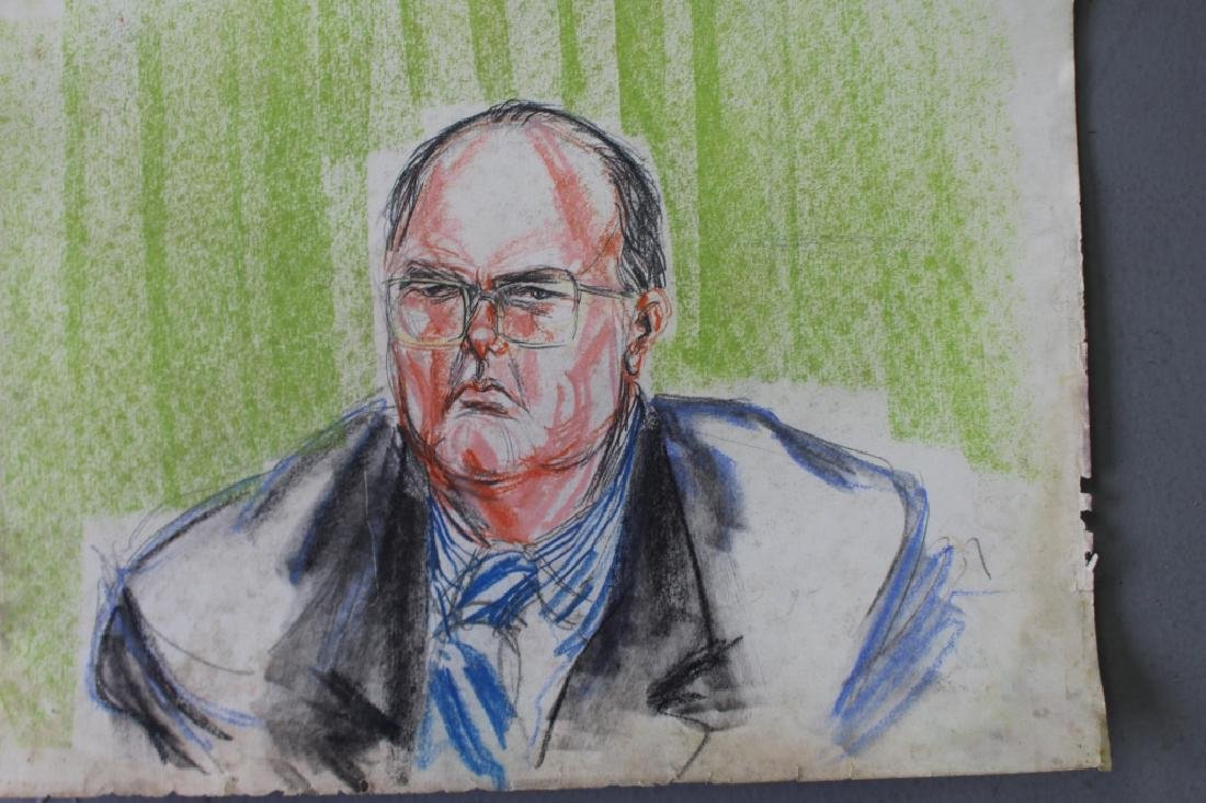 Pat Davies, Watergate Courtroom Drawings - 2