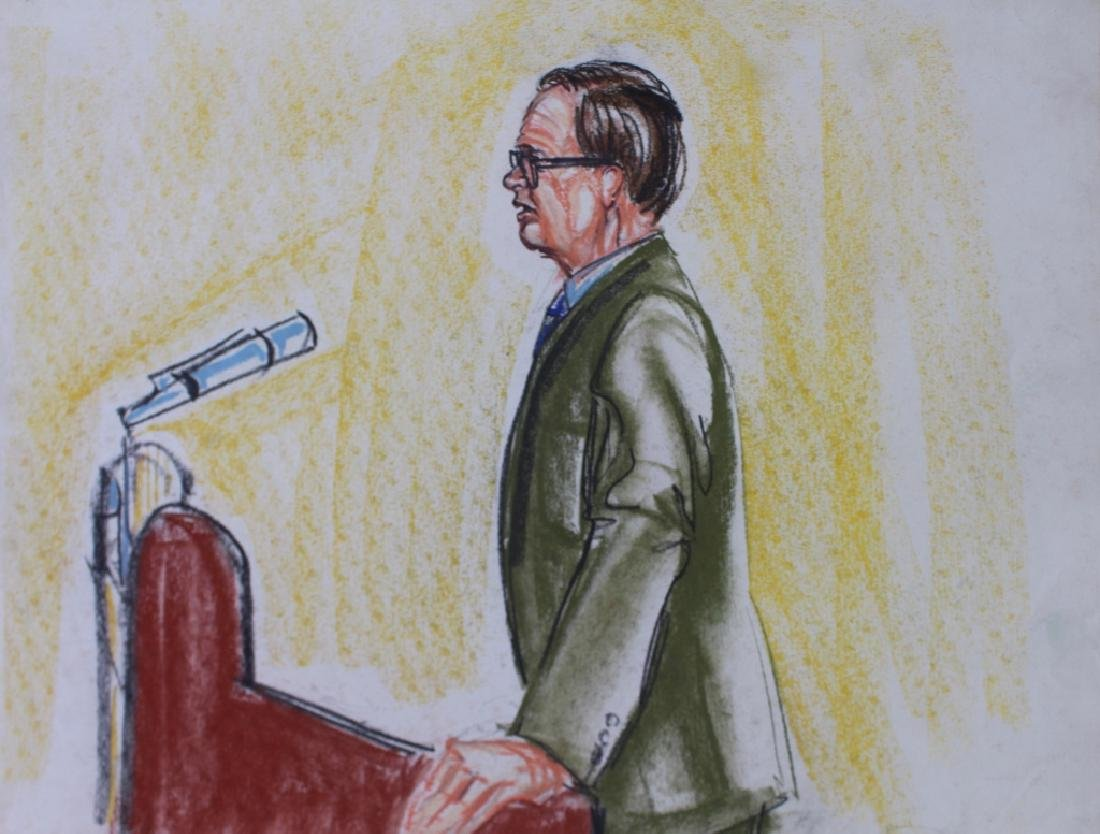 Pat Davies, Watergate Courtroom Drawings - 3