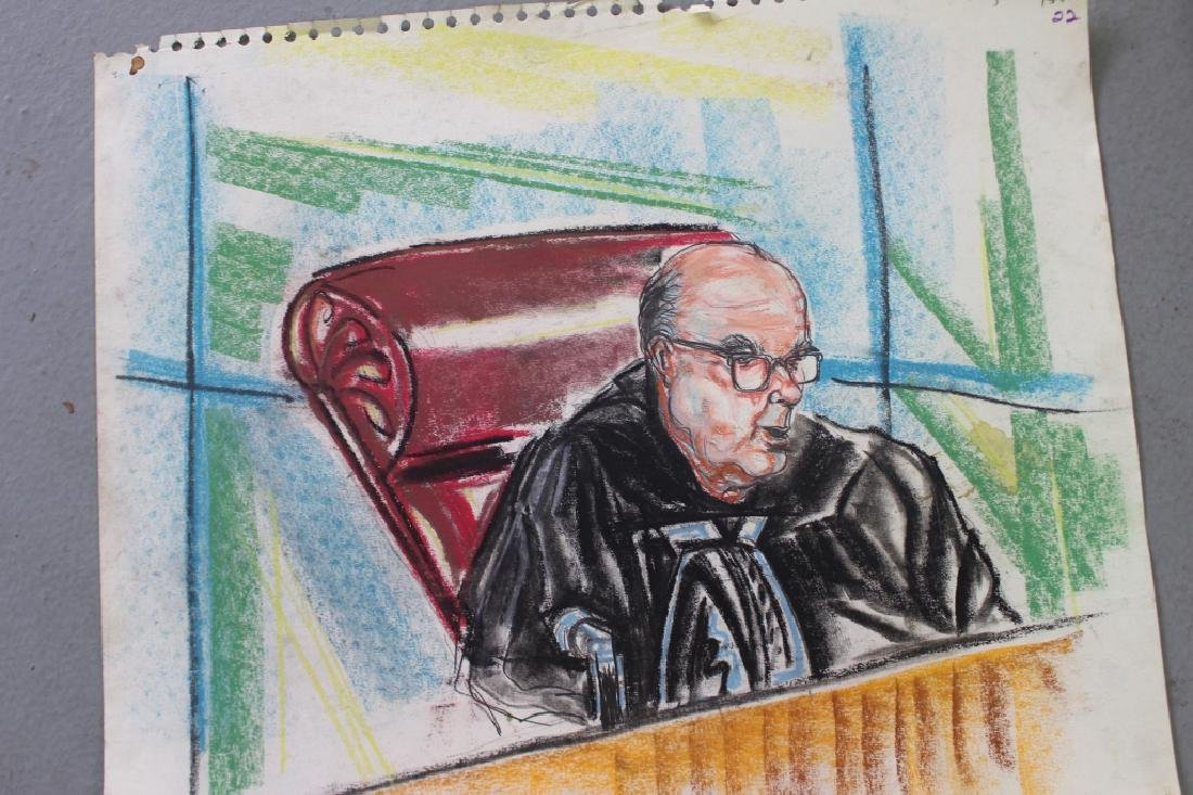 Pat Davies, Watergate Courtroom Drawings - 4