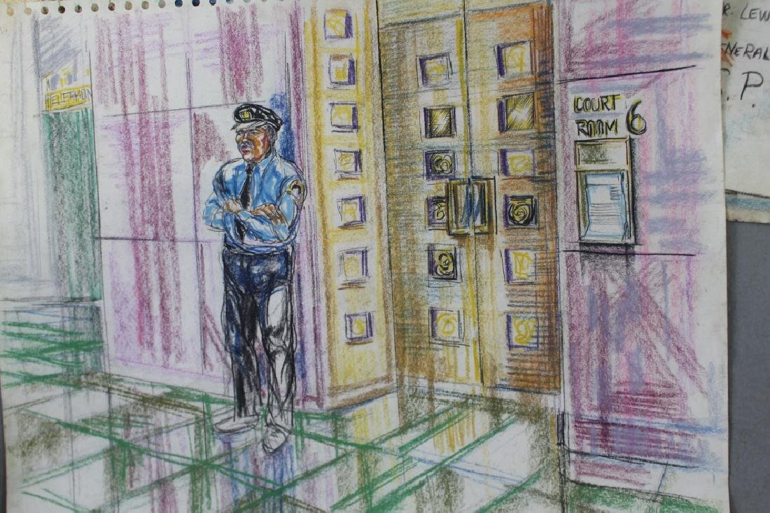Pat Davies, Watergate Courtroom Drawings - 7