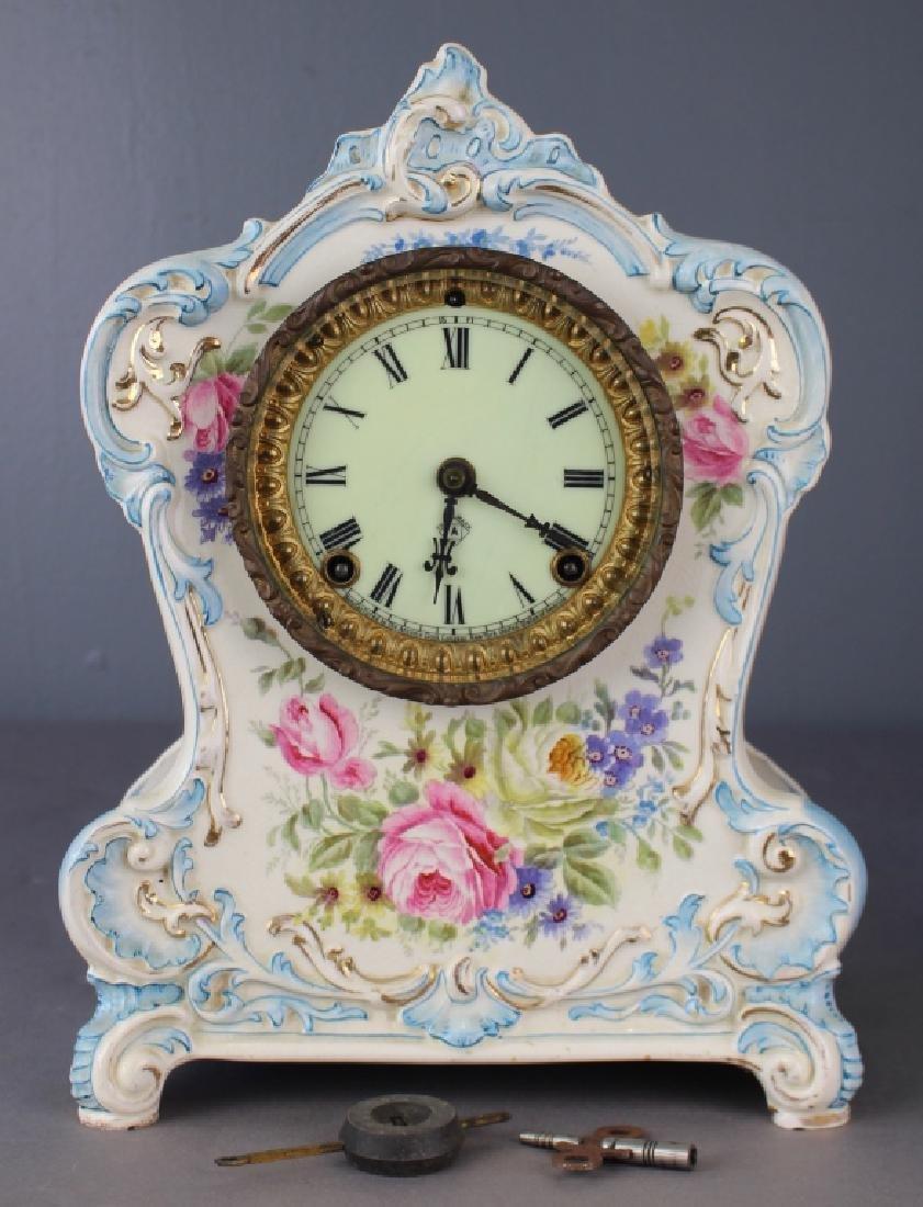 "Royal Bonn Porcelain Clock ""La Clair"""