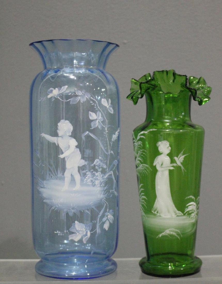 Collection of Mary Gregory Enamel Glass - 3