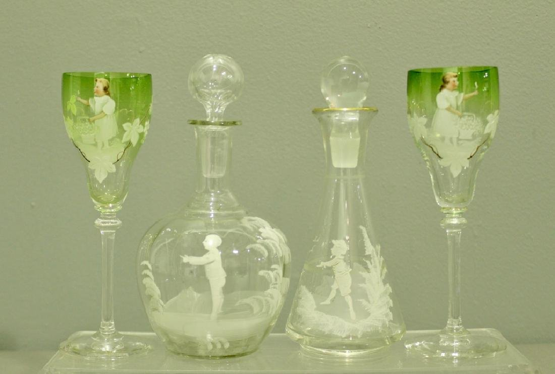Collection of Mary Gregory Enamel Glass - 5