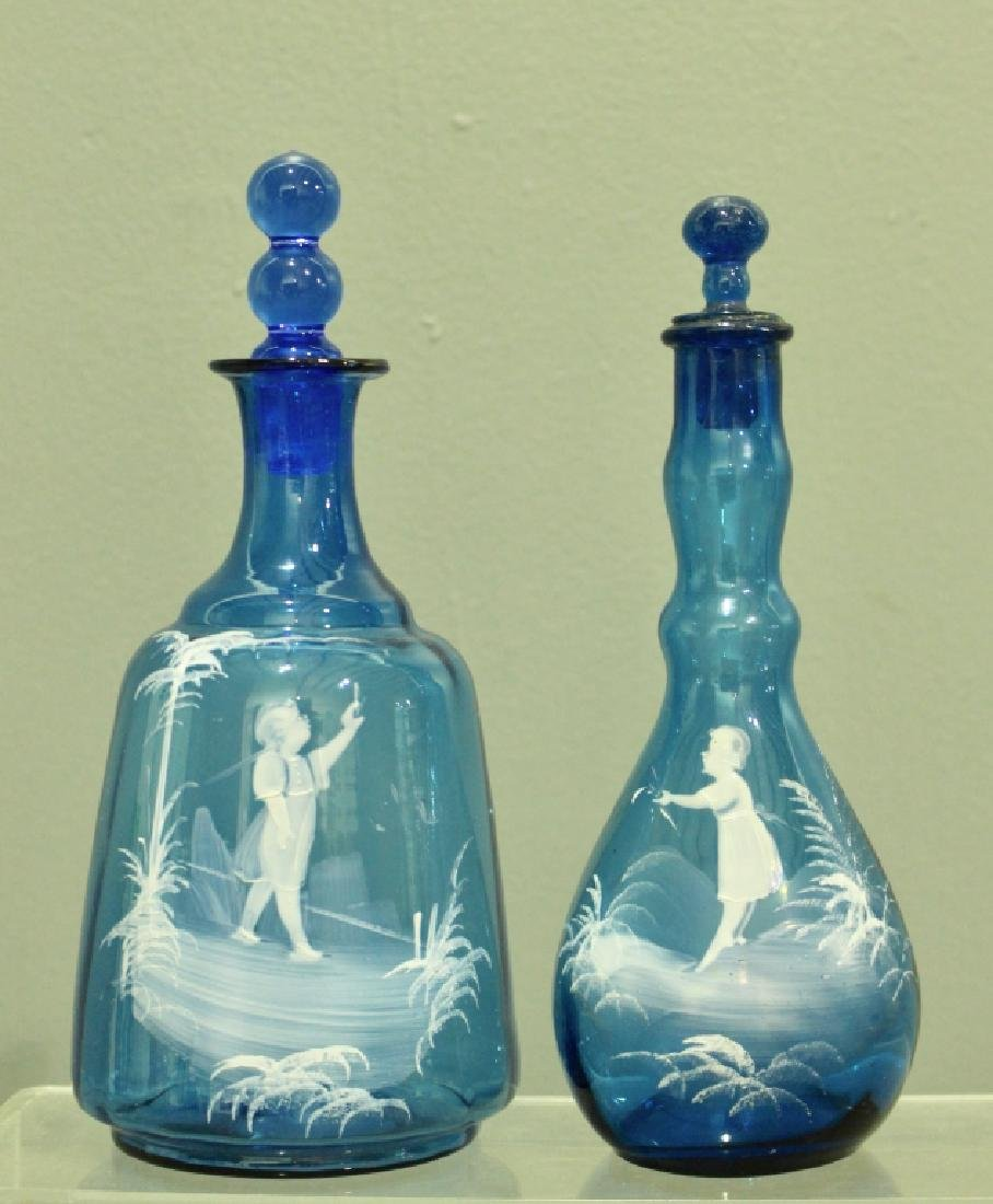 Collection of Mary Gregory Enamel Glass - 6