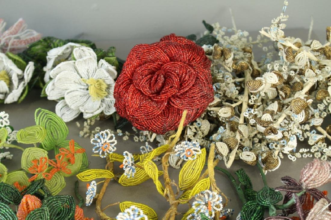 Collection of Handmade Beaded Flowers - 3
