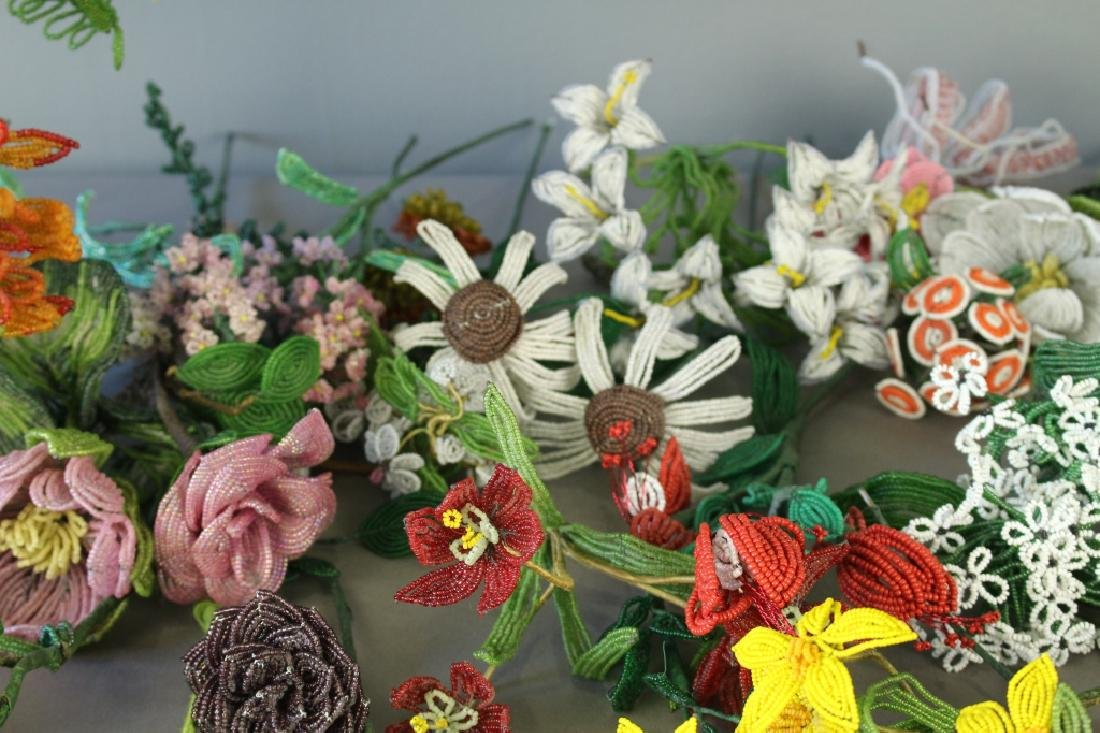 Collection of Handmade Beaded Flowers - 4